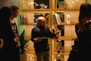 Выступление художника на открытии клуба красоты authentica club нижний новгород