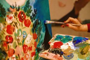 Создание картины на мероприятии в честь открытия клуба красоты authentica club нижний новгород