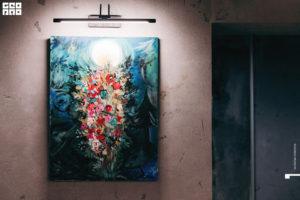 Репродукция картины Шагала на стене клуба красоты authentica club нижний новгород