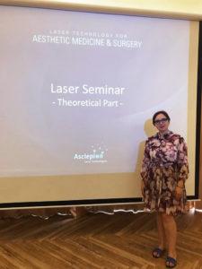 Главный врач-косметолог клуба красоты authnetica club на обучении по лазерным технологиям в Германии